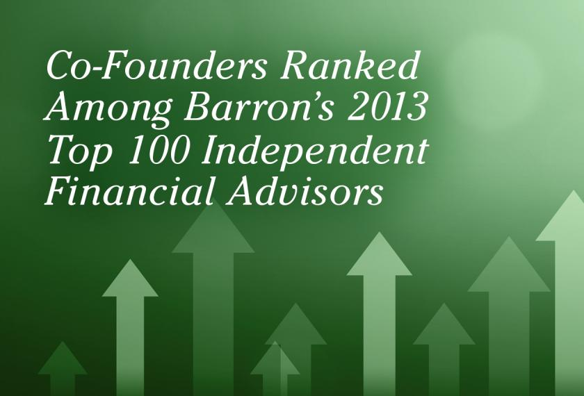 "RMB Capital Co-Founders in Top Quartile of Barron's 2013 ""Top 100 Independent Financial Advisors"""